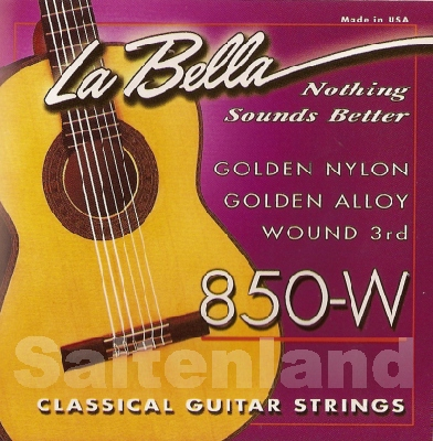 La Bella Classical Guitar Strings-850w, golden Alloy normal
