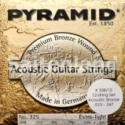 Pyramid 12-Saitige Premium Bronze Akustik Gitarre 338/12, .010-.047w extra light