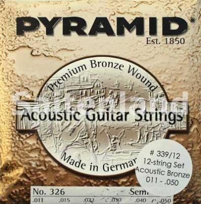 Pyramid 12-Saitige Premium Bronze Akustik Gitarre 339/12, .011-.050w semi light