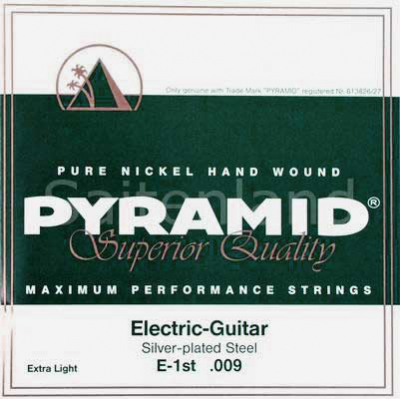 Pyramid Maximum Performance Pure Nickel D500, .009-.042w extra light