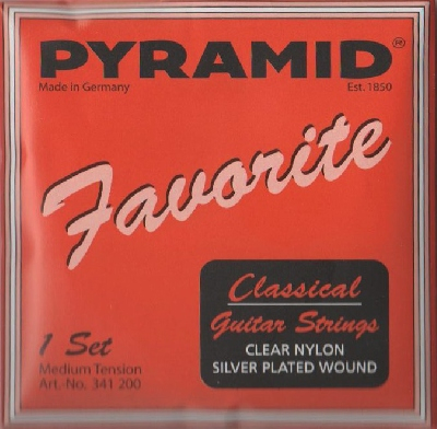Pyramid Classical Guitar Strings, Silver Plated Wound 341200, normal