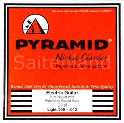 Pyramid Nickel Classics, Pure Nickel, Round Core 450100, .009-.042w light