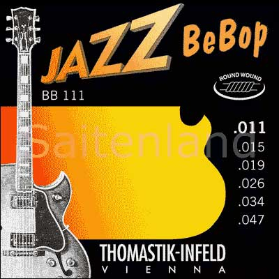 Thomastik Jazz BeBop Nickel Round Wound BB111, .011-.047 extra light
