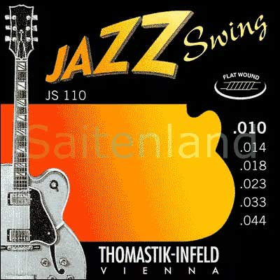 Thomastik Jazz Swing Nickel Flat Wound JS110, .010-.044 extra light