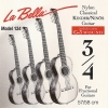 La Bella Nylon Classical Kinder Guitar Modell 3/4, Mensur 57-58 korrosionsgeschützt normal