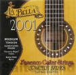 La Bella Flamenco Guitar Strings-2001MT, schwarzer Monofilament normal