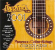 La Bella Flamenco Guitar Strings-2001LT, schwarzer Monofilament light