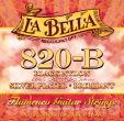 La Bella Flamenco Strings-820B, schwarzer Nylon normal