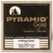Pyramid Gold Original Vintage Flatwounds 411 100, .011-.048w medium