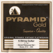 Pyramid Gold Original Vintage Flatwounds 412 100, .013-.052w heavy